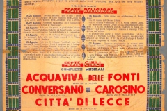 2 ING. GIANNI CARLUCCIO - TIP. BUTTAZZO - S. ORONZO (1949)