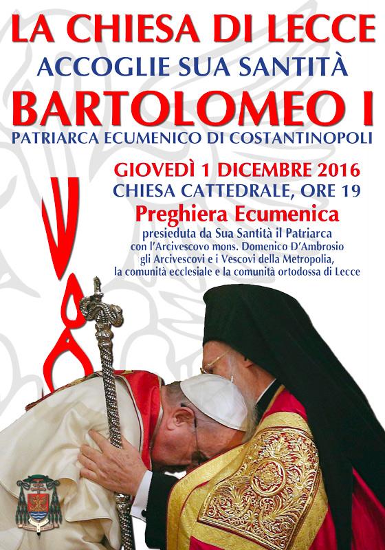 Il PATRIARCA BARTOLOMEO I a Lecce